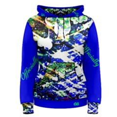 Officially Sexy Blue Floating Hearts Collection Women s Pullover Hoodie