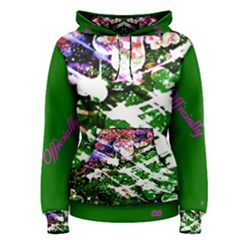 Officially Sexy Green Floating Hearts Collection Women s Pullover Hoodie