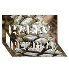 Pincone Spiral #2 Happy New Year 3D Greeting Card (8x4)