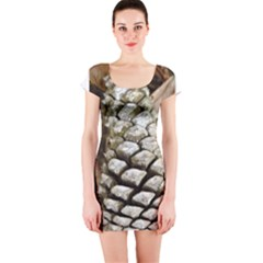 Pincone Spiral #2 Short Sleeve Bodycon Dresses