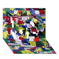 Tibetan Buddhist Prayer Flags Love 3d Greeting Card (7x5)