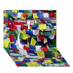 Tibetan Buddhist Prayer Flags Apple 3d Greeting Card (7x5)