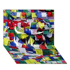 Tibetan Buddhist Prayer Flags Clover 3D Greeting Card (7x5)