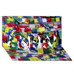 Tibetan Buddhist Prayer Flags Sorry 3d Greeting Card (8x4)