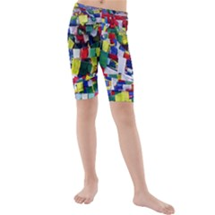 Tibetan Buddhist Prayer Flags Kid s swimwear