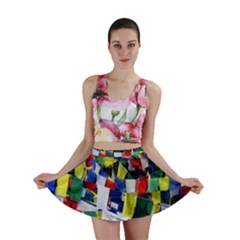 Tibetan Buddhist Prayer Flags Mini Skirts