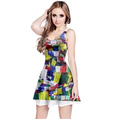 Tibetan Buddhist Prayer Flags Reversible Sleeveless Dresses