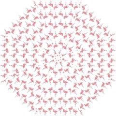 Pink Flamingo Pattern Folding Umbrellas
