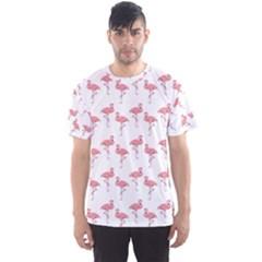 Pink Flamingo Pattern Men s Sport Mesh Tees