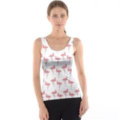 Pink Flamingo Pattern Tank Tops