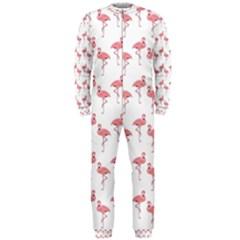 Pink Flamingo Pattern OnePiece Jumpsuit (Men)