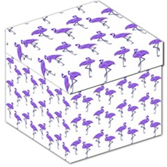 Flamingo Neon Purple Tropical Birds Storage Stool 12