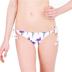 Flamingo Neon Purple Tropical Birds Bikini Bottoms