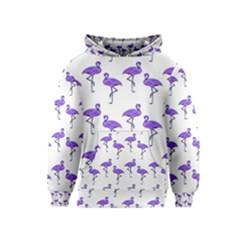 Flamingo Neon Purple Tropical Birds Kid s Pullover Hoodies