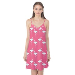 Flamingo White On Pink Pattern Camis Nightgown