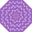 Flamingo White On Lavender Pattern Straight Umbrellas View1