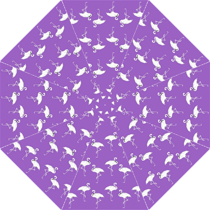 Flamingo White On Lavender Pattern Straight Umbrellas