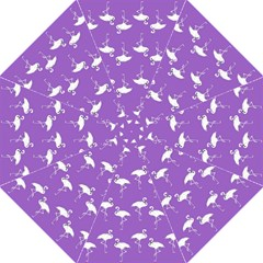 Flamingo White On Lavender Pattern Golf Umbrellas