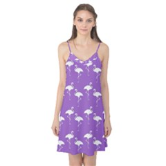 Flamingo White On Lavender Pattern Camis Nightgown