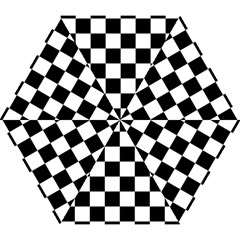 Checkered Flag Race Winner Mosaic Tile Pattern Mini Folding Umbrellas