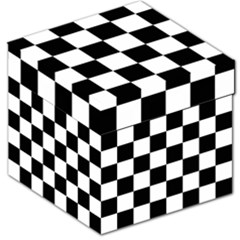 Checkered Flag Race Winner Mosaic Tile Pattern Storage Stool 12