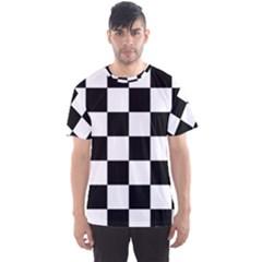 Checkered Flag Race Winner Mosaic Tile Pattern Men s Sport Mesh Tees