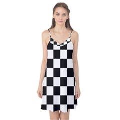 Checkered Flag Race Winner Mosaic Tile Pattern Camis Nightgown