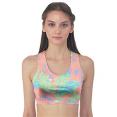 Tropical Summer Fruit Salad Sports Bra