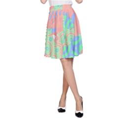 Tropical Summer Fruit Salad A-Line Skirt