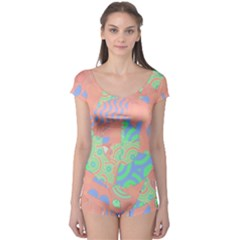 Tropical Summer Fruit Salad Boyleg Leotard (Ladies)
