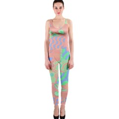 Tropical Summer Fruit Salad OnePiece Catsuit