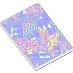 Girls Bright Pastel Abstract Blue Pink Green Large Memo Pads