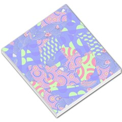 Girls Bright Pastel Abstract Blue Pink Green Small Memo Pads
