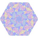 Girls Bright Pastel Abstract Blue Pink Green Mini Folding Umbrella View1