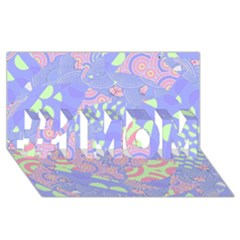 Girls Bright Pastel Abstract Blue Pink Green #1 Mom 3d Greeting Cards (8x4)