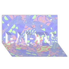Girls Bright Pastel Abstract Blue Pink Green Party 3d Greeting Card (8x4)