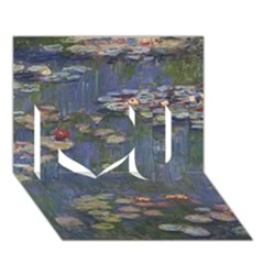 Claude Monet   Water Lilies I Love You 3d Greeting Card (7x5)