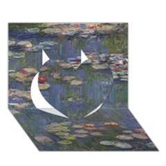 Claude Monet   Water Lilies Heart 3d Greeting Card (7x5)