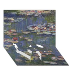 Claude Monet   Water Lilies LOVE Bottom 3D Greeting Card (7x5)