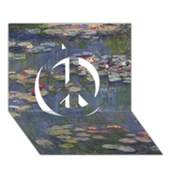 Claude Monet   Water Lilies Peace Sign 3d Greeting Card (7x5)