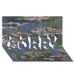 Claude Monet   Water Lilies SORRY 3D Greeting Card (8x4)
