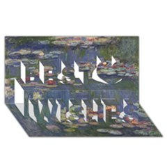 Claude Monet   Water Lilies Best Wish 3D Greeting Card (8x4)