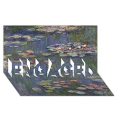Claude Monet   Water Lilies ENGAGED 3D Greeting Card (8x4)