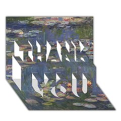 Claude Monet   Water Lilies THANK YOU 3D Greeting Card (7x5)