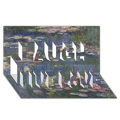 Claude Monet   Water Lilies Laugh Live Love 3d Greeting Card (8x4)