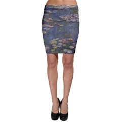 Claude Monet   Water Lilies Bodycon Skirts