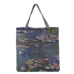 Claude Monet   Water Lilies Grocery Tote Bags