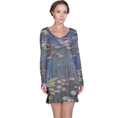 Claude Monet   Water Lilies Long Sleeve Nightdresses