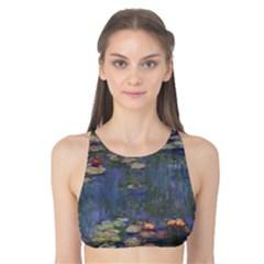 Claude Monet   Water Lilies Tank Bikini Top