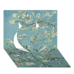 Almond Blossom Tree Heart 3d Greeting Card (7x5)